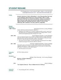 Free Sample Professional Resume by Resume Examples Student College Student Resume Example Resume