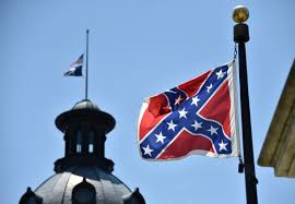 Us Flags At Half Mast The Confederate Flag In Every State In Every Form Must Come Down