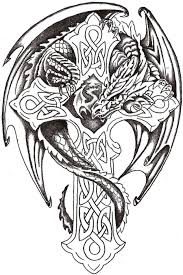 celtic cross half sleeve 55 dragon cross tattoos designs and pictures