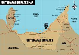 map of oman and uae free uae map vector free vector stock graphics