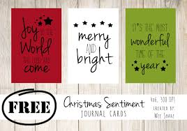 christmas sentiments journal cards free download wee share