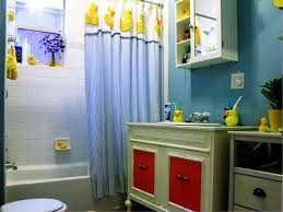 bathroom rubber duck ornaments in curtain and towel dor kids
