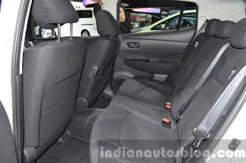 nissan leaf 2016 interior 2016 nissan leaf with 30 kwh rear seat at iaa 2015 indian autos blog