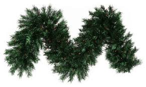 pre lit pine tinsel garland dura lights midnight