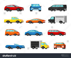 yellow jeep clipart colorful vehicles collection icons orthogonal style stock vector