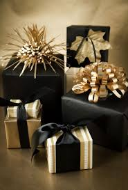 Christmas Package Decoration Ideas by Black And Gold Gift Wrapping Gift Wrapping Diy U0026 Products Bags