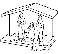 christmas nativity coloring coloringcrew