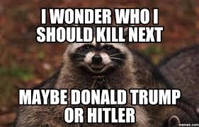 Raccoon Meme - evil plotting raccoon hilarious pictures with captions