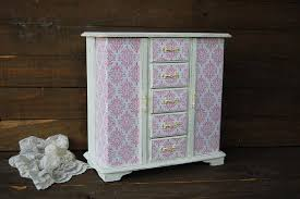 Shabby Chic Jewelry Armoire by Jewelry Armoire Shabby Chic Jewelry Box Hand Painted Pink