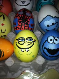 Easter Eggs Decorations Pinterest by Spiderman Smurf Spongebob And Cookie Monster Easter Eggs