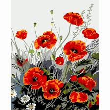 poppies flowers poppies flowers new frame pictures painting by numbers diy