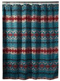 Turquoise Shower Curtains Turquoise Chamarro Shower Curtain Carstens Inc