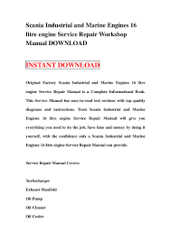 scania industrial and marine engines 16 litre engine service repair w u2026