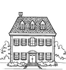 coloring page house big family houses coloring page color