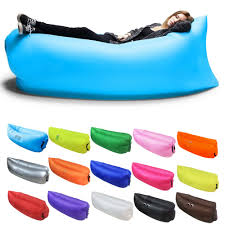 fast inflatable lounger camping beach hiking sofa banana sleeping