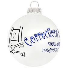 corrections officers glass ornament occupations