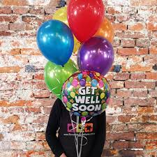 get well soon balloons balloons adelaide get well balloon bouquet