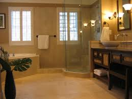 tumbled travertine bathroom floor 7429