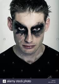 male goth man in goth makeup punk subculture stock photo
