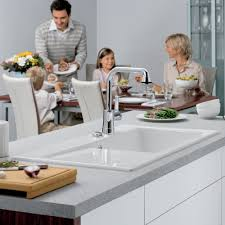 Kitchen Room Villeroy And Boch U0026 Boch Subway 60xl Ceramic Single Bowl U0026 Left Hand Drainer 6719 01