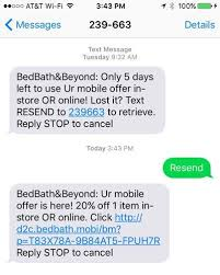 Bed Bath Beyond In Store Coupon Bed Bath U0026 Beyond Sms Offer Reminders U2013 How It Works Tatango