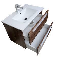 Walnut Bathroom Vanity Buy Nola 29 5 Wall Mount Modern Bathroom Vanity Walnut Tn T750c
