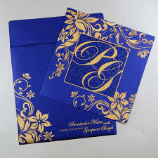 indian wedding cards w 1003 with shimmery finish paper