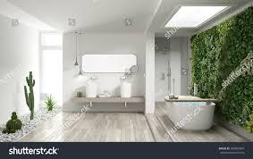 minimalist white bathroom vertical succulent garden stock minimalist white bathroom with vertical and succulent garden wooden floor and pebbles hotel