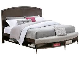 slumberland broyhill vibe collection cherry kg storage bench bed