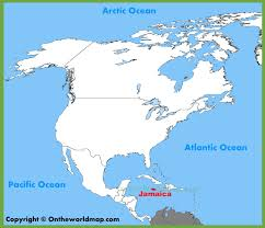 Map Of Nirth America by Jamaica Location On The North America Map