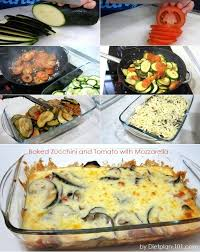 baked zucchini and tomato with mozzarella south beach phase 1
