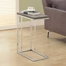 monarch specialties accent table shop monarch specialties dark taupe rectangular end table at lowes com