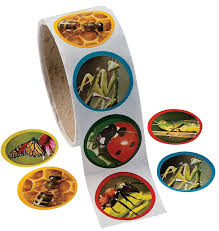amazon com fun express 1 roll realistic bug insect stickers 100