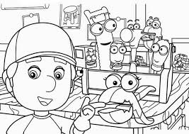 handy manny colouring pages funycoloring