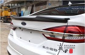 2013 ford fusion spoiler carbon fiber car rear wing trunk spoiler for ford mondeo fusion