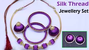 necklace making set images How to make silk thread jewellery set making necklace bangles jpg