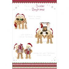 sister and boyfriend christmas card 2 boofle merry christmas