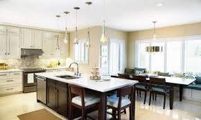 modern wide kitchen with walnut wooden table kitchen and walnut