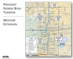 Traffic Map Dallas by President George Bush Turnpike Western Extension Us Department