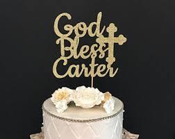 baptism cake topper etsy