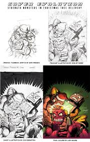 evolution of a comic book cover strength monsters in u201cchristmas