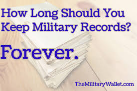 how long should you keep military records forever
