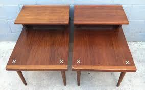 mid century end table pair mid century end tables rusty gold design mid century end tables