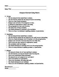 compare and contrast rubric learning in
