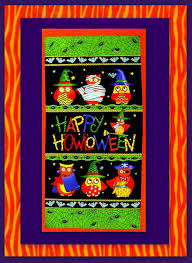 easy fabric panel quilt kit halloween midnight masquerade wall nap