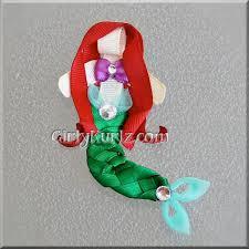 mermaid ribbon mermaid hair clip ribbon sculpture ariel hair clip