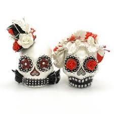 skull cake topper dia de los murtos silver ceramic skull cake topper handmade