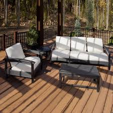 Outdoor Furniture 3 Piece by Trex Outdoor Furniture Rockport 3 Piece Outdoor Club Conversation