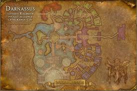 kalimdor map darnassus map with locations npcs and quests of warcraft