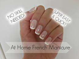 easiest french manicure tutorial ever youtube
